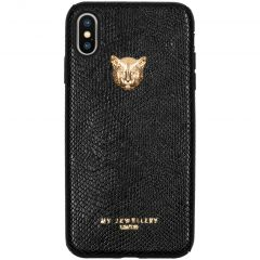 My Jewellery Tiger Softcase Backcover iPhone Xs Max - Zwart