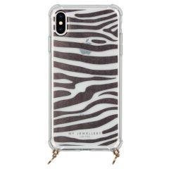 My Jewellery Design Softcase Koordhoesje iPhone Xs Max - Zebra