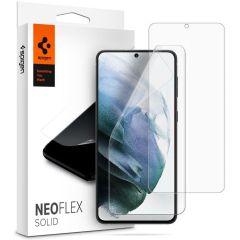 Spigen Neo Flex Solid HD Screenprotector Duo Pack Galaxy S21 Plus
