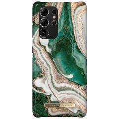 iDeal of Sweden Fashion Backcover Galaxy S21 Ultra - Golden Jade Marble