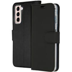 Accezz Wallet Softcase Booktype Samsung Galaxy S21 Plus - Zwart