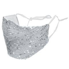 iMoshion Herbruikbaar, wasbaar luxe blingbling mondkapje - Zilver