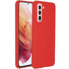 Accezz Liquid Silicone Backcover Galaxy S21 Plus - Rood