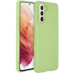 Accezz Liquid Silicone Backcover Galaxy S21 Plus - Groen