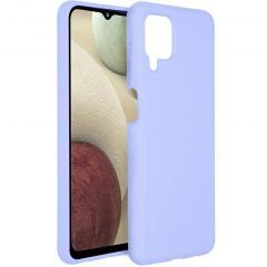 Accezz Liquid Silicone Backcover Samsung Galaxy A12 - Paars