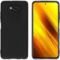 iMoshion Color Backcover Xiaomi Poco X3 (Pro)  - Zwart