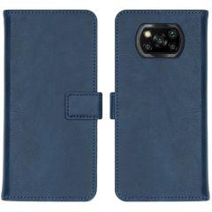 iMoshion Luxe Booktype Xiaomi Poco X3 (Pro) - Donkerblauw