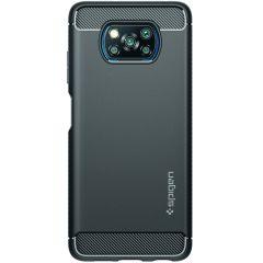 Spigen Rugged Armor Backcover Xiaomi Poco X3 (Pro) - Zwart