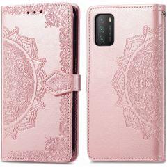 iMoshion Mandala Booktype Xiaomi Poco M3 - Rosé Goud