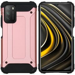 iMoshion Rugged Xtreme Backcover Xiaomi Poco M3 - Rosé Goud