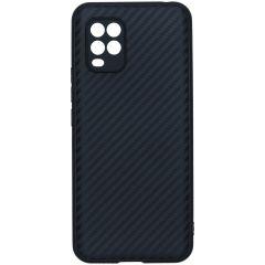 Carbon Softcase Backcover Xiaomi Mi 10 Lite - Zwart