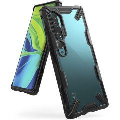 Ringke Fusion X Backcover Xiaomi Mi Note 10 (Pro) -  Zwart