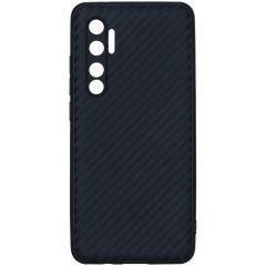 Carbon Softcase Backcover Xiaomi Mi Note 10 Lite - Zwart