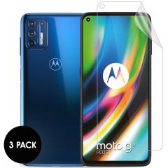 iMoshion Screenprotector Folie 3 pack Motorola Moto G9 Plus