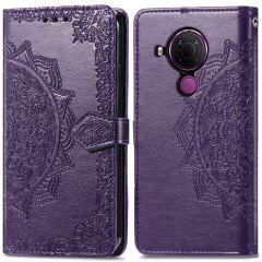 iMoshion Mandala Booktype Nokia 5.4 - Paars