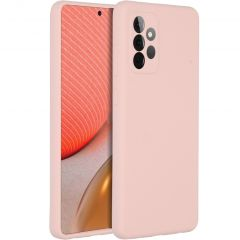 Accezz Liquid Silicone Backcover Samsung Galaxy A72 - Roze