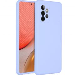 Accezz Liquid Silicone Backcover Samsung Galaxy A72 - Paars