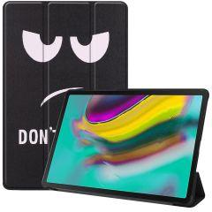 iMoshion Design Trifold Bookcase Samsung Galaxy Tab S5e - Don't touch