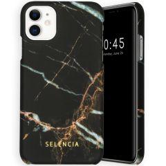 Selencia Maya Fashion Backcover iPhone 11 - Marble Black