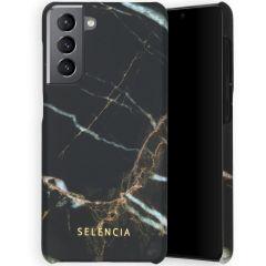 Selencia Maya Fashion Backcover Samsung Galaxy S21 - Marble Black