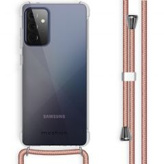 iMoshion Backcover met koord Samsung Galaxy A72 - Rosé Goud