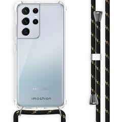 iMoshion Backcover met koord Samsung Galaxy S21 Ultra - Zwart / Goud
