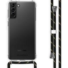 iMoshion Backcover met koord Samsung Galaxy S21 Plus - Zwart Goud