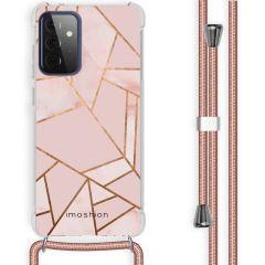 iMoshion Design hoesje met koord Galaxy A72 - Grafisch Koper - Roze