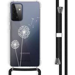 iMoshion Design hoesje met koord Galaxy A72 - Paardenbloem - Wit