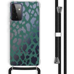 iMoshion Design hoesje met koord Galaxy A72 - Luipaard - Groen