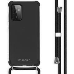 iMoshion Color Backcover met koord Samsung Galaxy A72 - Zwart