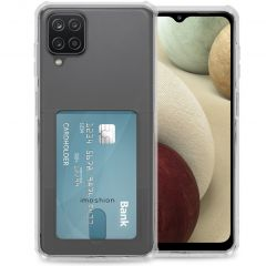 iMoshion Softcase Backcover met pashouder Galaxy A12 - Transparant