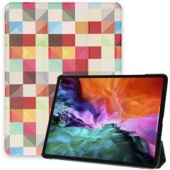 iMoshion Design Trifold Bookcase iPad Pro 12.9 (2020-2018)
