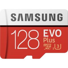 Samsung 128GB EVO Plus microSDXC geheugenkaart klasse 10 + adapter