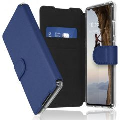Accezz Xtreme Wallet Booktype Galaxy S21 Ultra - Donkerblauw