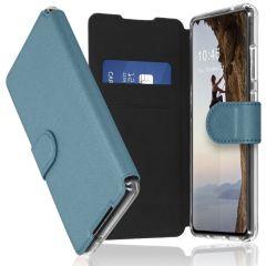 Accezz Xtreme Wallet Booktype Galaxy S21 Ultra - Lichtblauw