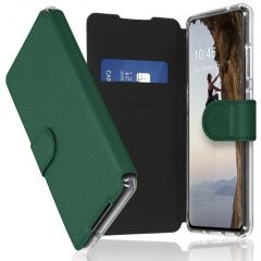 Accezz Xtreme Wallet Booktype Galaxy S21 Ultra - Donkergroen