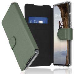 Accezz Xtreme Wallet Booktype Galaxy S21 Ultra - Lichtgroen