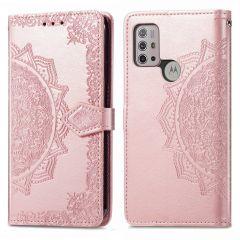 iMoshion Mandala Booktype Motorola Moto G30 / G20 / G10 (Power) - Rosé Goud