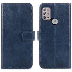 iMoshion Luxe Booktype Motorola Moto G30 / G20 / G10 (Power) - Donkerblauw