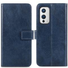 iMoshion Luxe Booktype OnePlus 9 - Donkerblauw