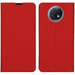 iMoshion Slim Folio Book Case Xiaomi Redmi Note 9T (5G) - Rood