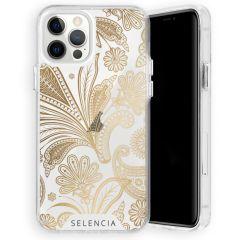Selencia Fashion Extra Beschermende Backcover iPhone 12 (Pro) - Paisley Gold