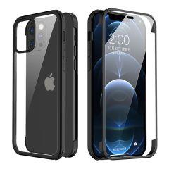 Valenta Full Cover 360° Tempered Glass iPhone 12 (Pro) - Zwart