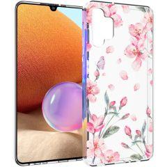 iMoshion Design hoesje Samsung Galaxy A32 (4G) - Bloem - Roze