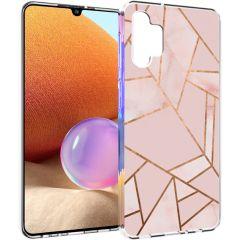 iMoshion Design hoesje Galaxy A32 (4G) - Grafisch Koper - Roze / Goud