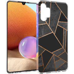 iMoshion Design hoesje Galaxy A32 (4G) - Grafisch Koper - Zwart /Goud