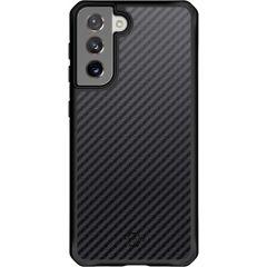 Itskins Hybrid Carbon Backcover Samsung Galaxy S21 - Zwart