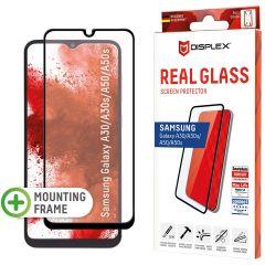 Displex Screenprotector Real Glass Full Cover Samsung Galaxy A50 / A30s - Zwart