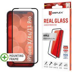 Displex Screenprotector Real Glass Full Cover iPhone 11 Pro / Xs / X - Zwart